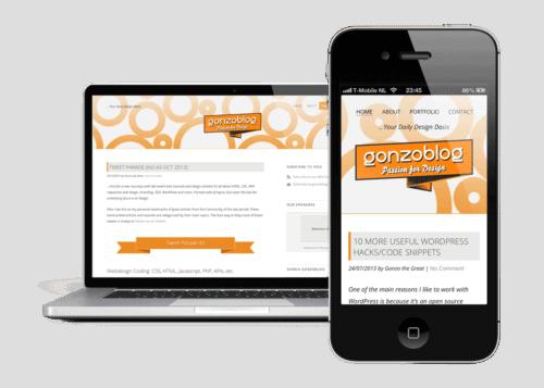 Responsive WordPress Theme gonzoblog