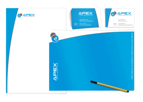 Corporate Identity Design Apex engineering