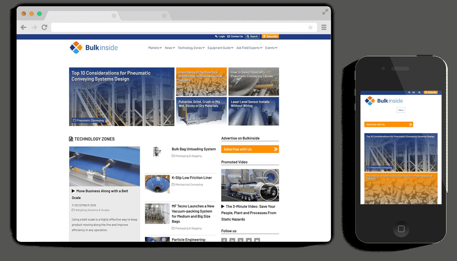 Responsive WordPress Theme for Groundsailer Media