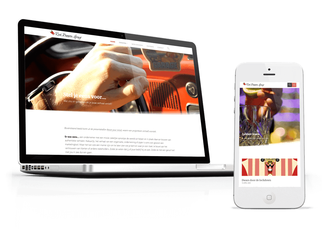 Responsive WordPress Theme for Red Pepper Gang Productions